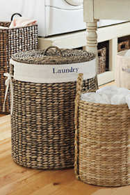 Seagrass Round Lidded Hamper