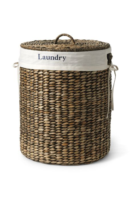 Seagrass Round Lidded Laundry Hamper