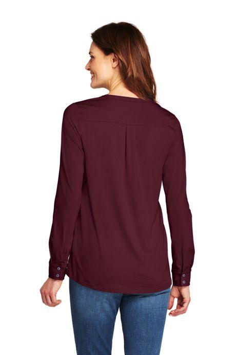 Women's Tall Long Sleeve Button Cuff Tunic
