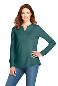 Women's Long Sleeve Button Cuff Tunic