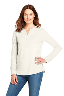 Women's Cotton/Modal Henley Tunic