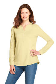 Women's Long Sleeve Button Cuff Tunic Top