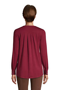 Women's Long Sleeve Button Cuff Tunic Top, Back