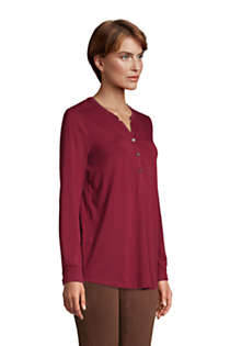 Women's Long Sleeve Button Cuff Tunic Top, alternative image