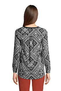 Women's Tall Long Sleeve Button Cuff Tunic Top, Back