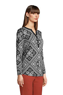 Women's Tall Long Sleeve Button Cuff Tunic Top, alternative image