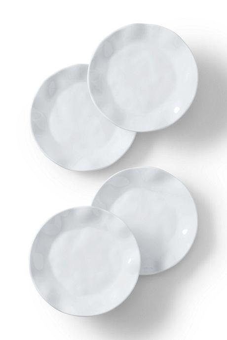 Melamine Solid Salad Plates Set of 4