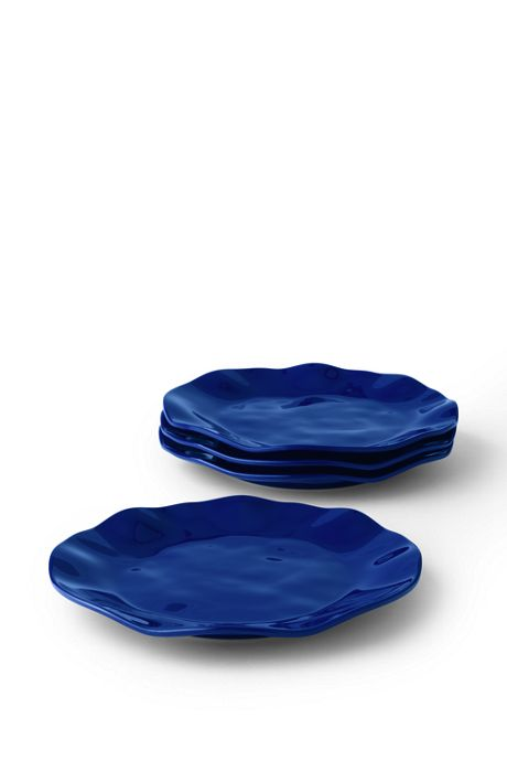 Melamine Solid Dinner Plates Set of 4