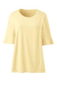 Women's Plus Size Petal Sleeve Scoop Neck Top