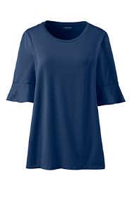 Women's Petal Sleeve Scoop Neck Top
