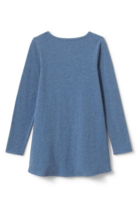 Little Girls Henley Tunic Top