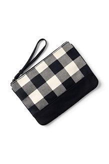 Mittelgroße gemusterte Canvas-Zippertasche für Damen