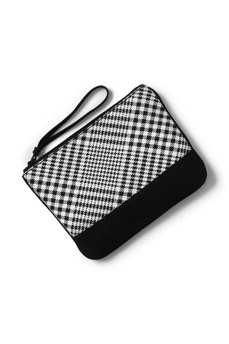 Medium Print Canvas Zipper Pouch