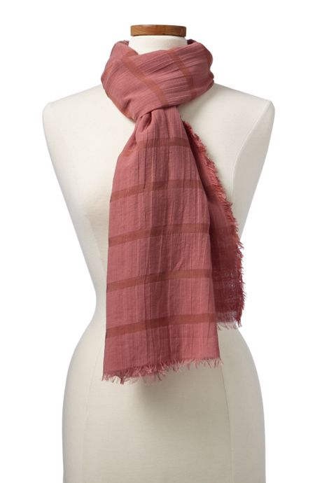 Women's Textured Solid Scarf