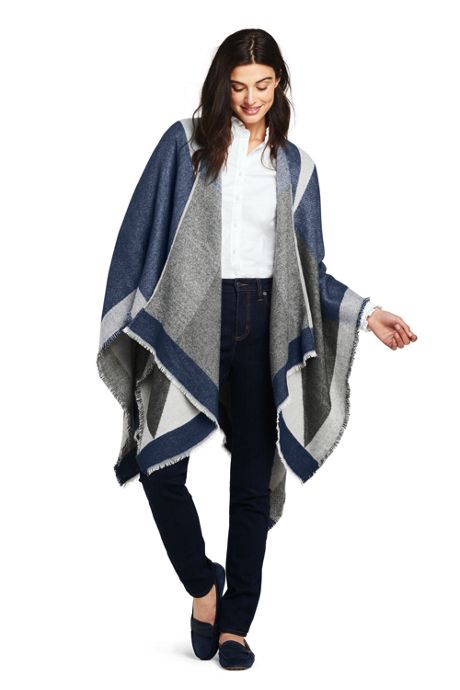 Women's Colorblock Shawl Wrap