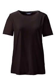 Women's Velvet Short Sleeve T-shirt Crewneck