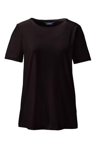 Le T-Shirt en Coton Modal Stretch à Manches Courtes, Femme Stature Standard