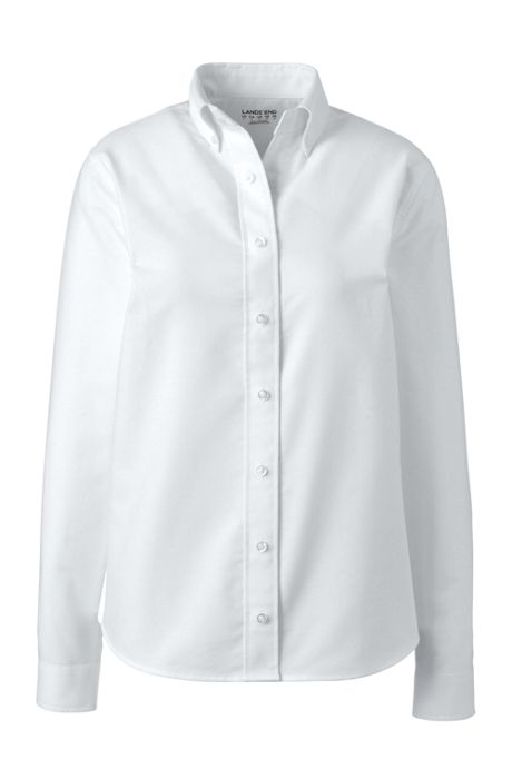 School Uniform Women's Adaptive Long Sleeve Oxford Dress Shirt