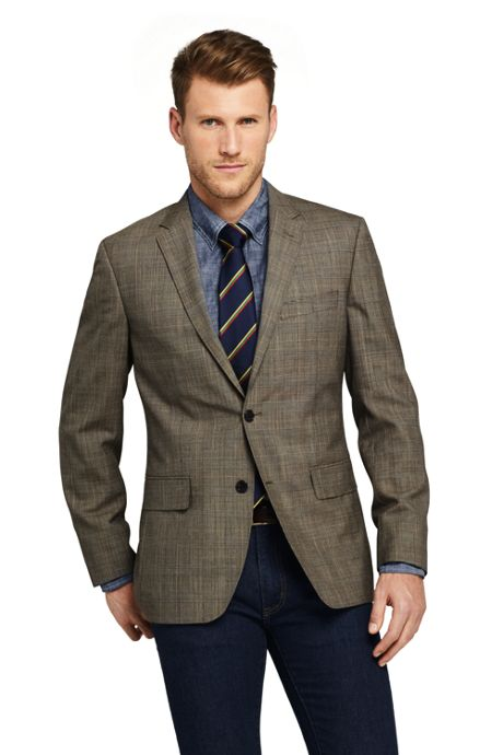 Men's Pattern Tailored Fit Comfort-First Year'rounder Suit Jacket