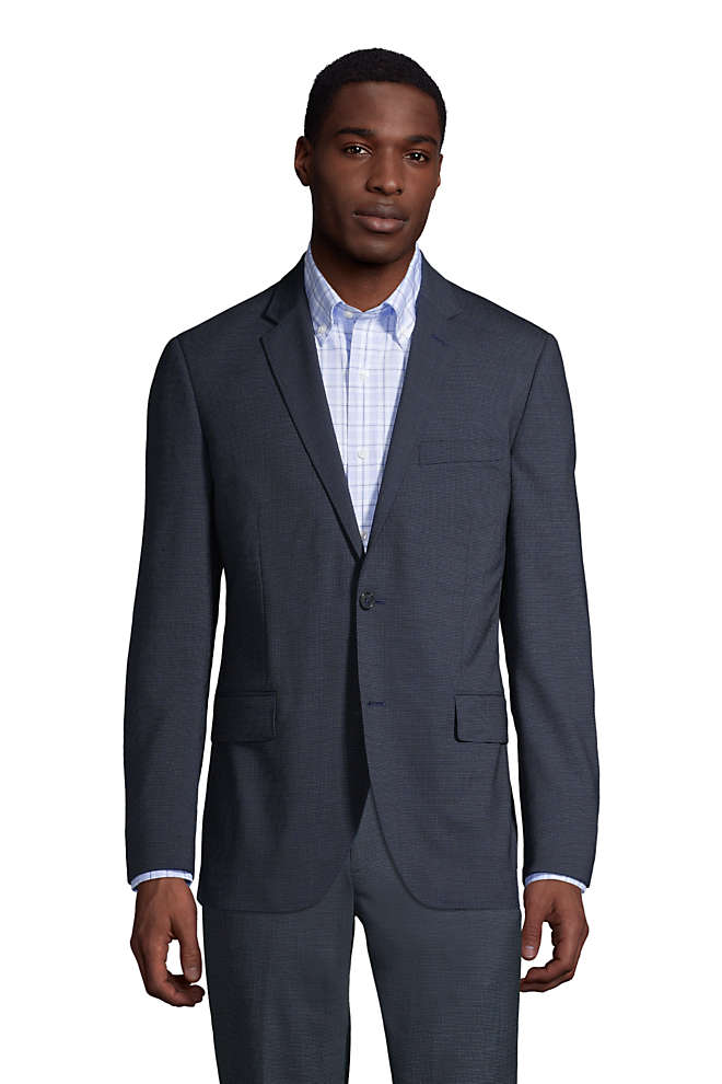 Men's Pattern Tailored Fit Comfort-First Year'rounder Suit Jacket, Front