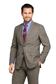 Men's Pattern Traditional Fit Comfort-First Year'rounder Suit Jacket
