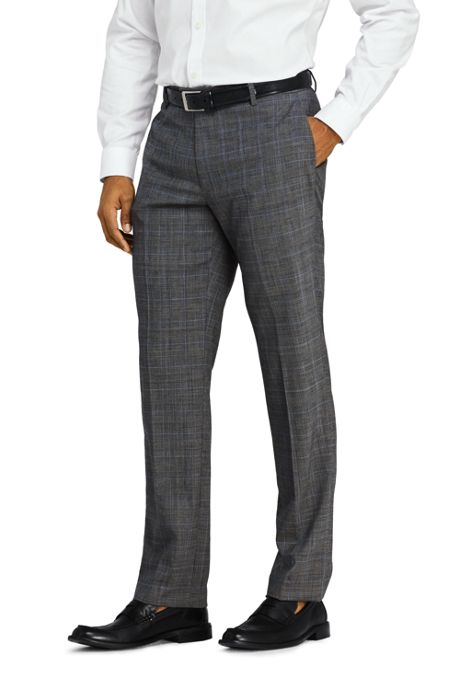 Men's Pattern Tailored Fit Comfort-First Year'rounder Trousers