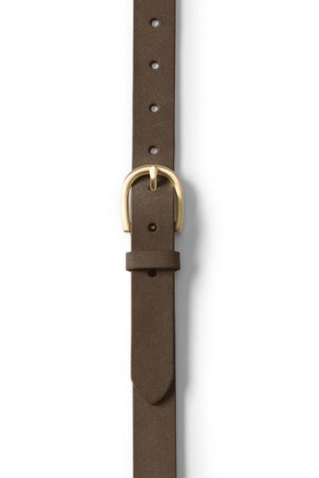 School Uniform Women's Plus Size Classic Suede Belt