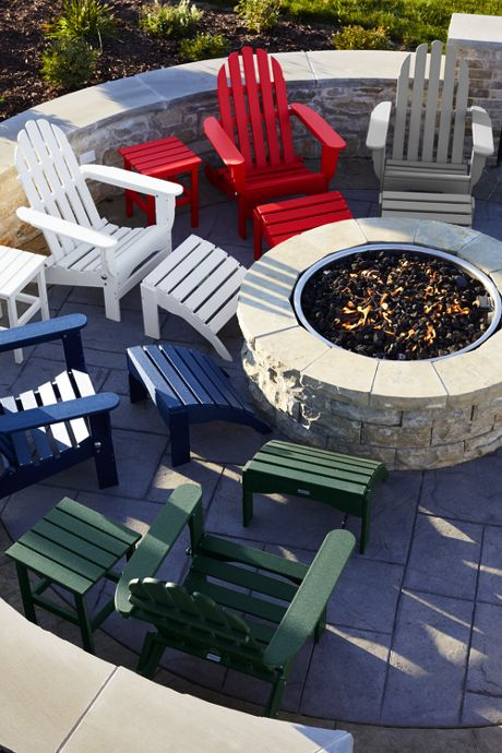 All-Weather Recycled Adirondack Ottoman