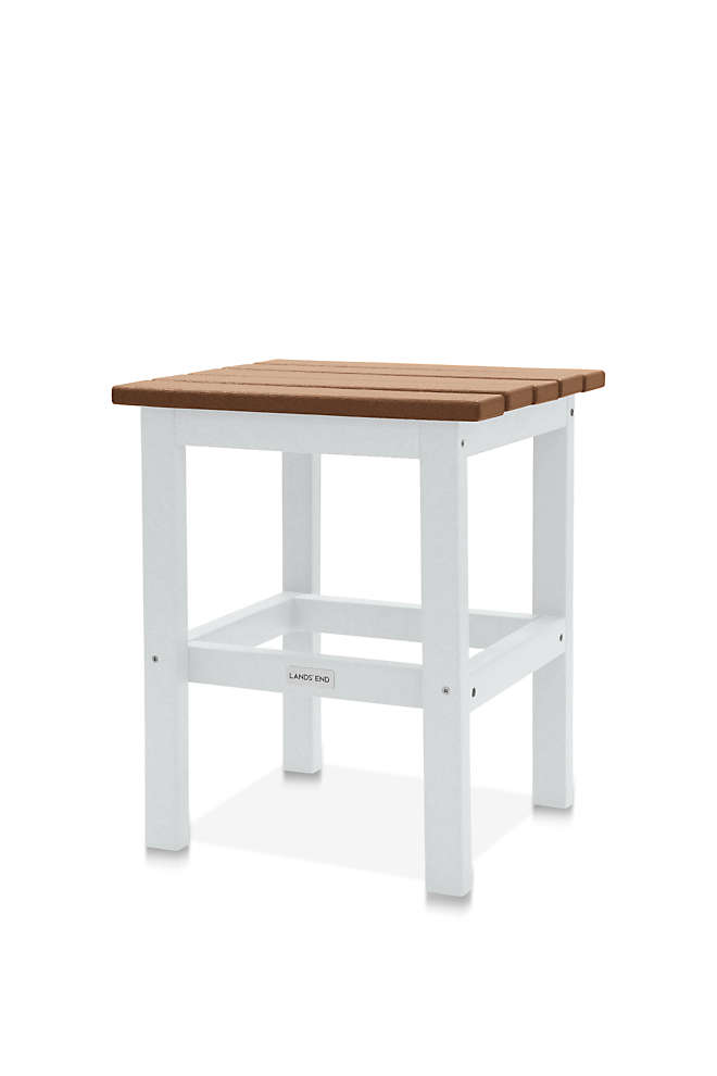 "All-Weather Recycled Adirondack 15"" Side Table 2-Tone, Front"