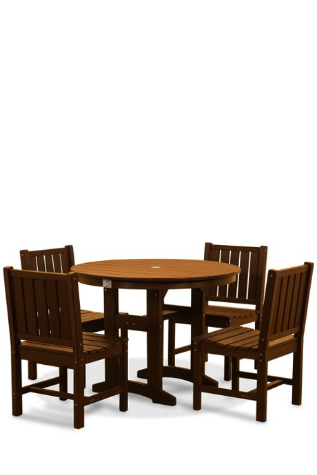 All-Weather Recycled 42 Inch Round Dining Set