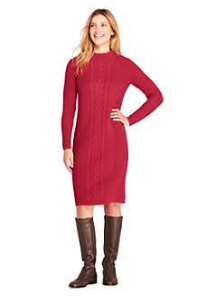 Women's Cable Stitch Sweater Dress