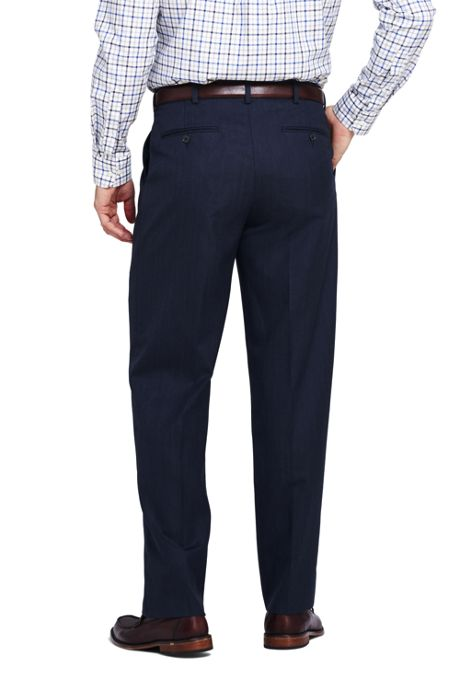 Men's Pattern Comfort Waist Pleat Year'rounder Trousers