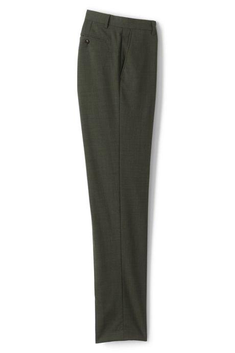 Men's Slim Fit Comfort-First Year'rounder Wool Dress Pants