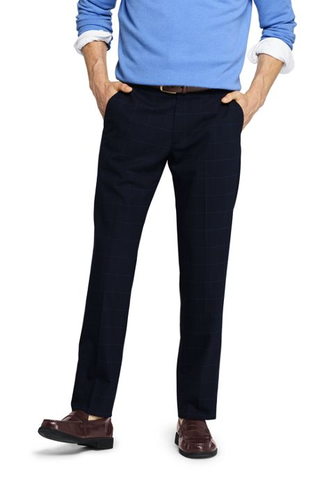 Men's Slim Fit Comfort-First Year'rounder Wool Dress Pants