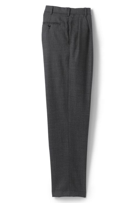 Men's Pattern Traditional Fit Pleat Year'rounder Trousers