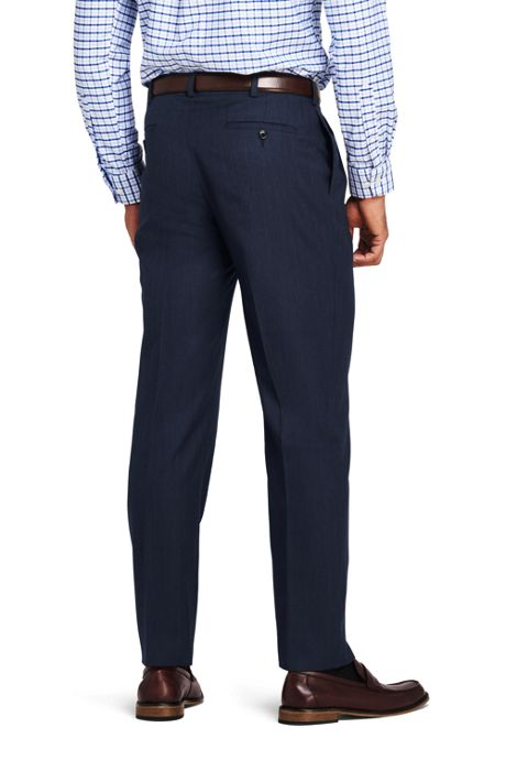 Men's Pattern Tailored Fit Pleat Year'rounder Trousers