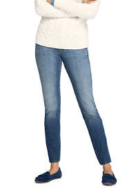 Women's 360 Stretch Mid Rise Straight Leg Jeans - Blue