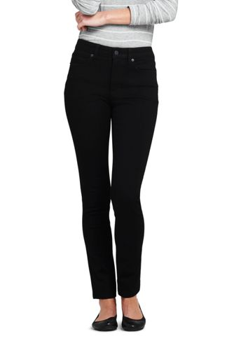 a1e0ab383fe555 Women s Mid Rise 360° Stretch Slim Black Jeans