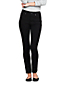 Women's Petite Mid Rise 360° Stretch Slim Black Jeans