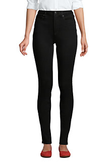 Women's Mid Rise 360° Stretch Slim Black Jeans
