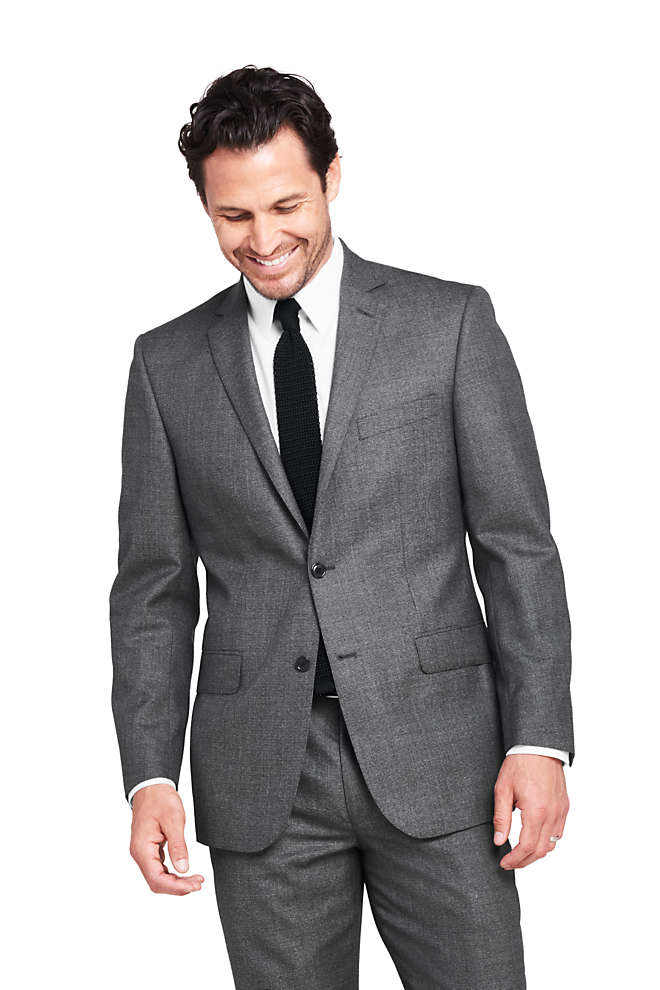 Men's Pattern Traditional Fit Year'rounder Suit Jacket, Front