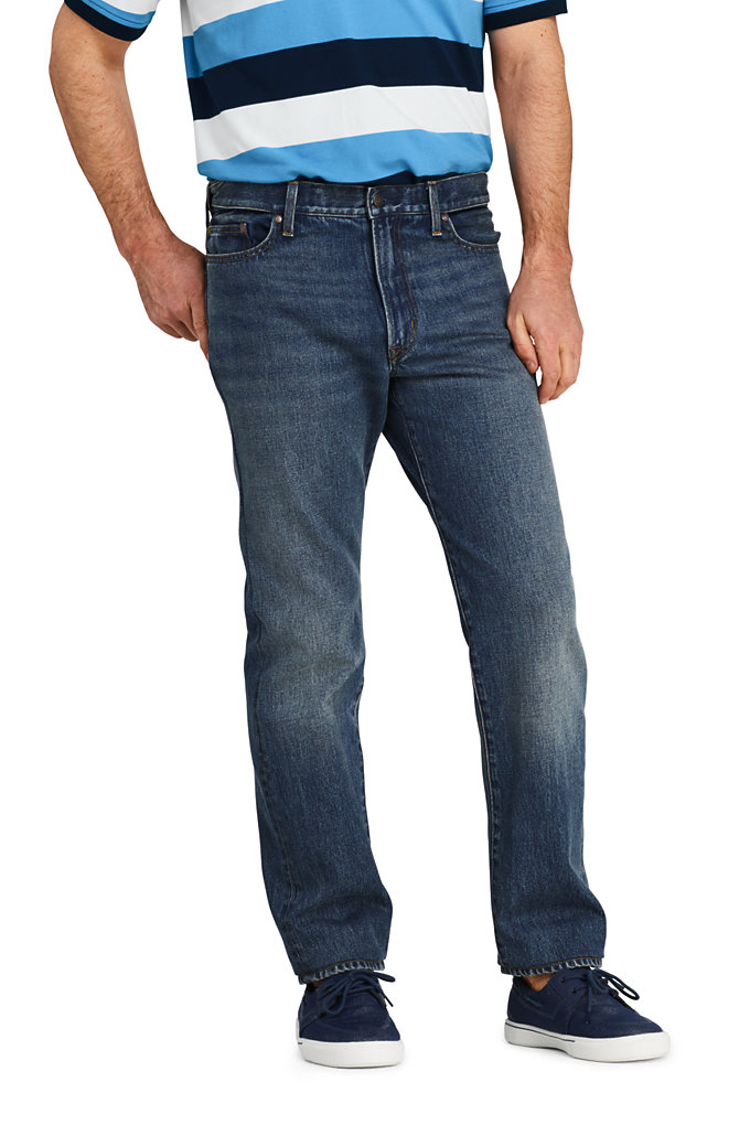 Men's Comfort Waist Jeans - Lands' End