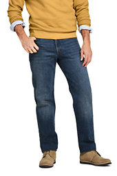 Men's Traditional Fit Jeans-Medium Wash