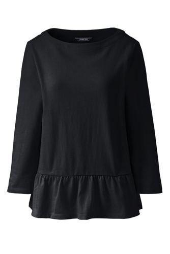 Women's Plus Cotton Jersey Peplum Hem Top