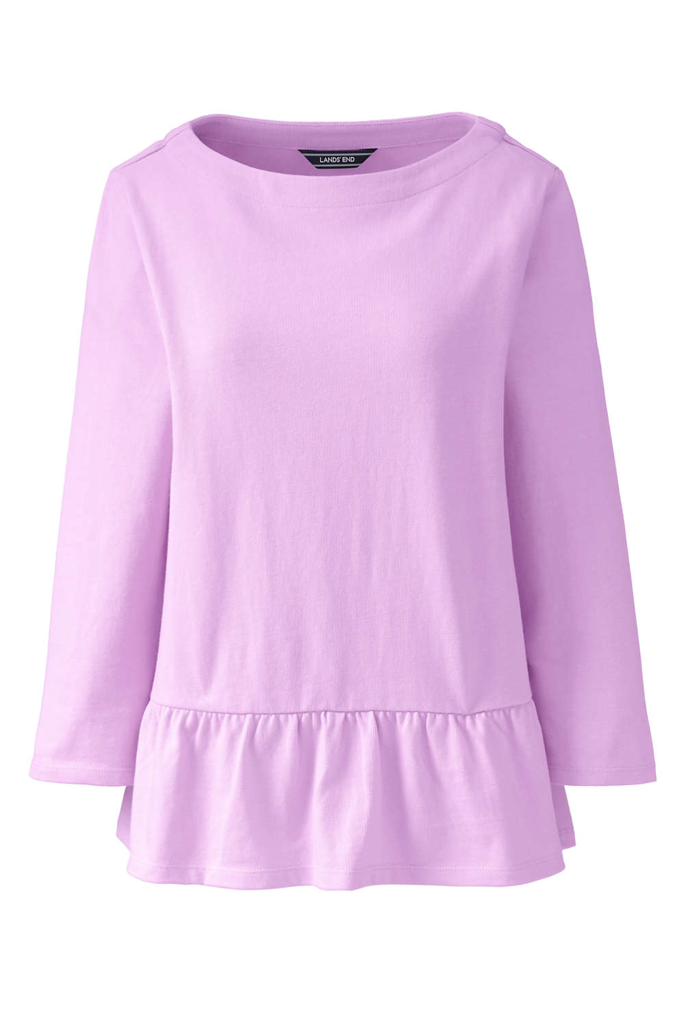 b998b9014b187 Women s Plus Size 3 4 Sleeve Boatneck Peplum Top from Lands  End