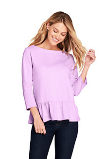 Women's Cotton Jersey Peplum Hem Top