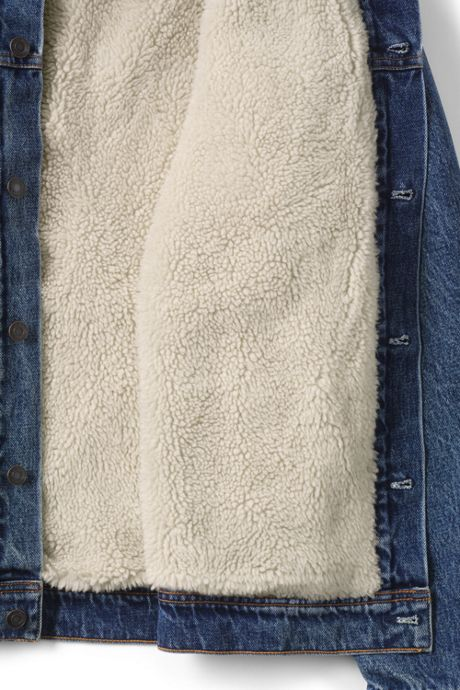 Men's Sherpa Lined Denim Jacket