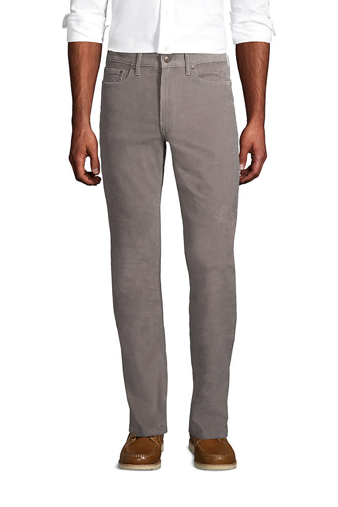 Mens Traditional Fit Comfort-First Washed Corduroy Pants, Front
