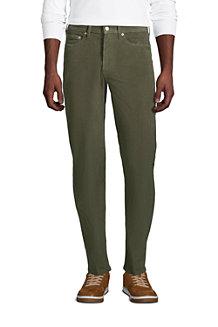 Le Pantalon Classique Stretch en Velours Côtelé Ourlets Sur-Mesure, Homme