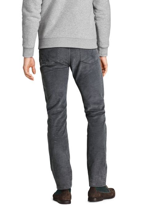 Mens Straight Fit Comfort-First Washed Corduroy Pants